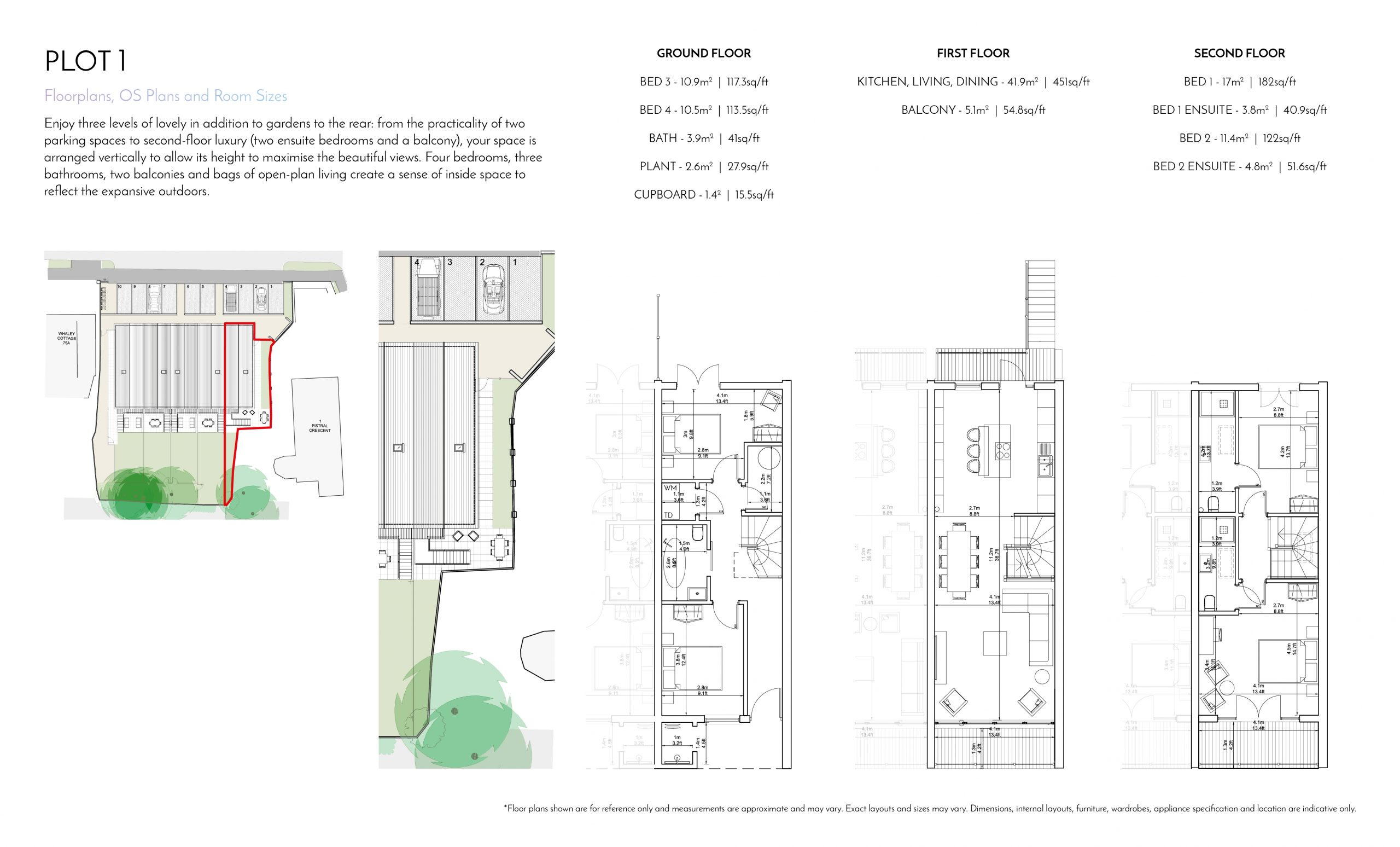 Stephens and Stephens Developers Breakwater Pentire Newquay Cornwall Floorplans Plot 1